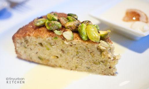 Pistachio olive oil cake from Rialto